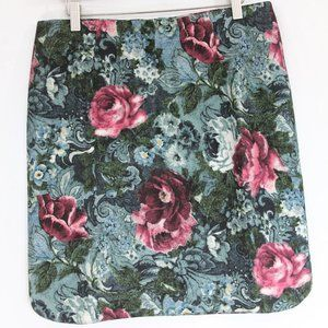 J. Jill Ponte Pencil Skirt NEW Floral print